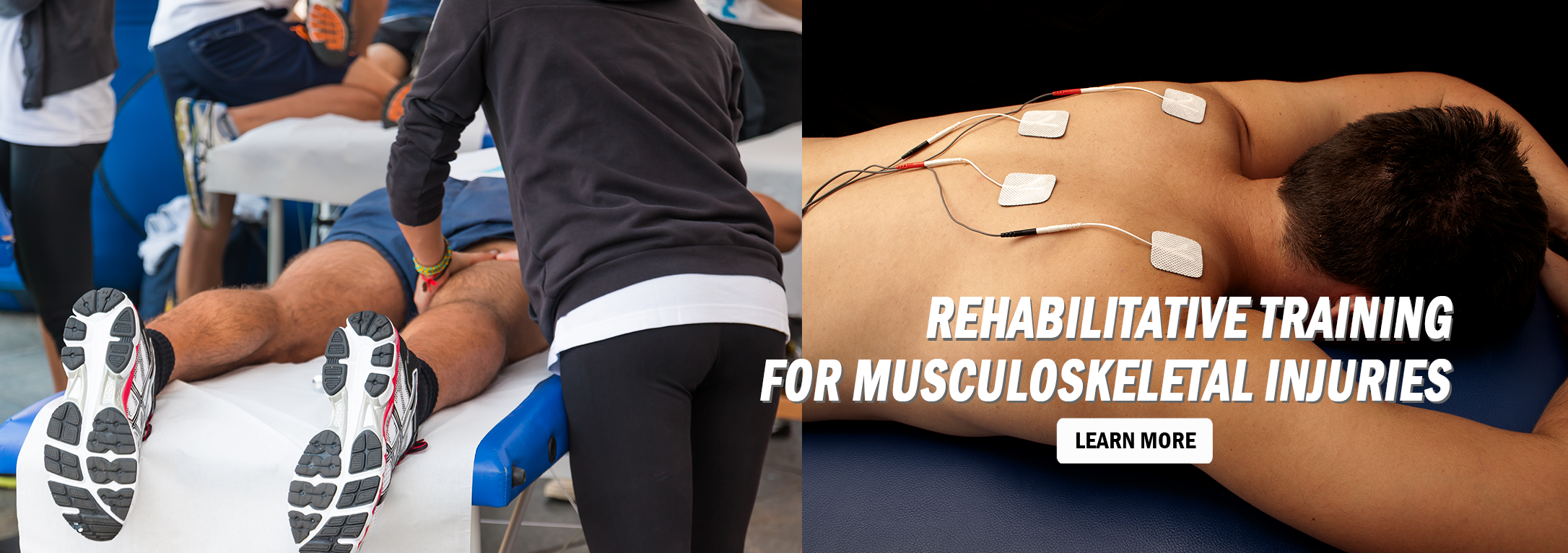 Rehabilitative Training for Musculoskeletal Injuries Home Slider Image